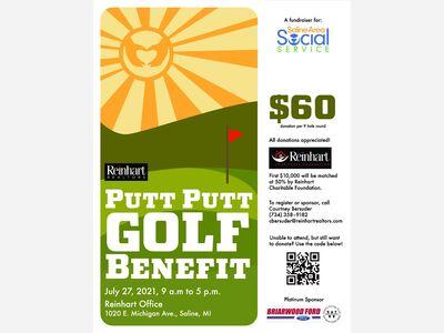 Reinhart Realtors Saline Area Social Services Putt Putt Golf Benefit