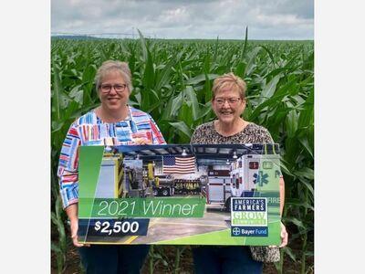 LOCAL FARMER DIRECTS AMERICA'S FARMERS GROW COMMUNITIES DONATION TO SALINE COMMUNITY FAIR