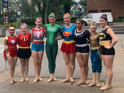 Saline Twirlettes Compete in Twirling Unlimited International Championships in Canton
