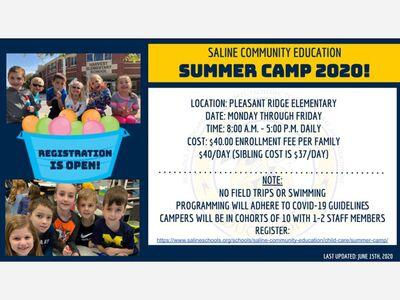 Saline Community Ed Summer Camp