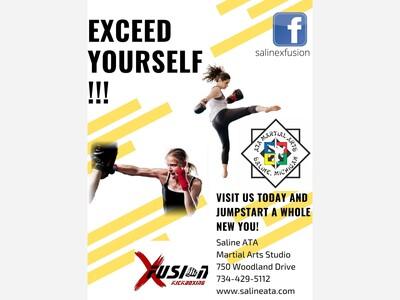 Saline ATA Taekwondo Studio offers Aerobic Kickboxing Classes