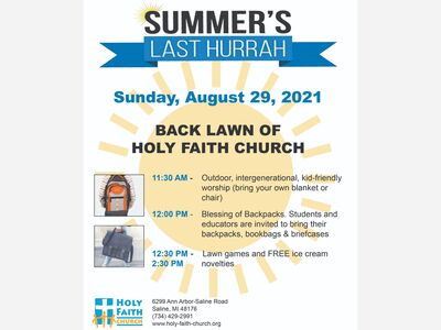 Summer's Last Hurrah and Blessing of Backpacks