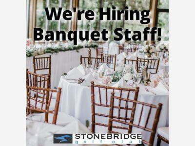 Stonebridge is Hiring Wedding Staff!