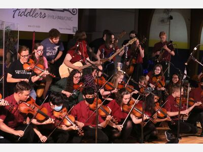 Saline Fiddlers Philharmonic Take Show Indoors and Don't Skip a Beat