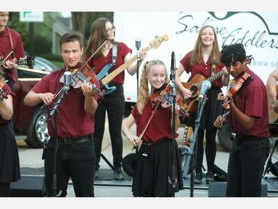 GALLERY: Saline Fiddlers Entertain Their Hometown Crowd in Downtown Saline