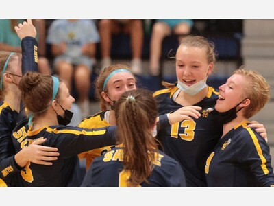 VOLLEYBALL: Saline Sweeps Bedford on the Road
