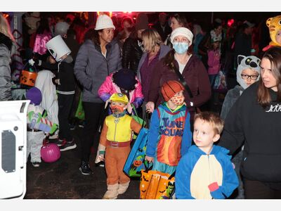 Main Street's Trunk or Treat Draws Hundreds of Families to Downtown Saline