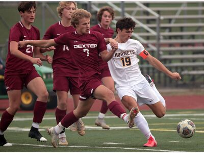 SOCCER: Saline Opens Playoffs With 1-0 Win Over Dexter, Rossi Ties School Record For Goals