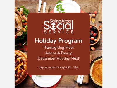 SASS Holiday Program Sign Up Open Through Oct. 21st