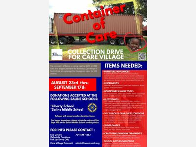 Donate to the Container of Care for Care Village through 9/17!